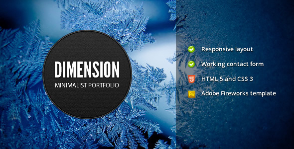 ThemeForest Dimension Minimalist Portfolio Template 1147569