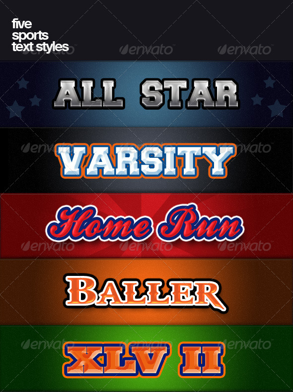 GraphicRiver Five Sports Text Styles 141214