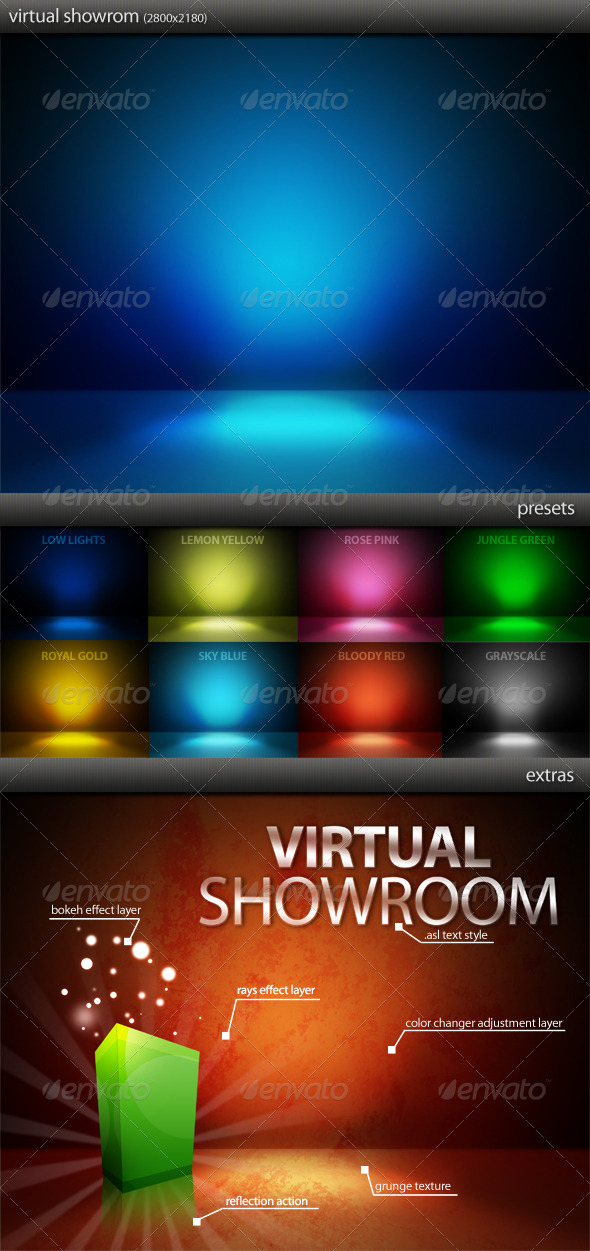 Virtual Showroom - Photoshop Add-ons