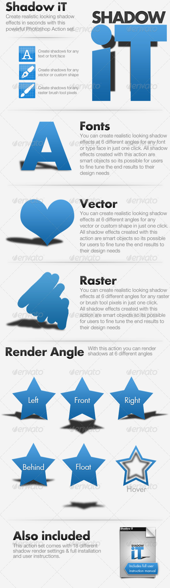 Shadow iT - Shadow Creator Actions Pack - Photoshop Add-ons