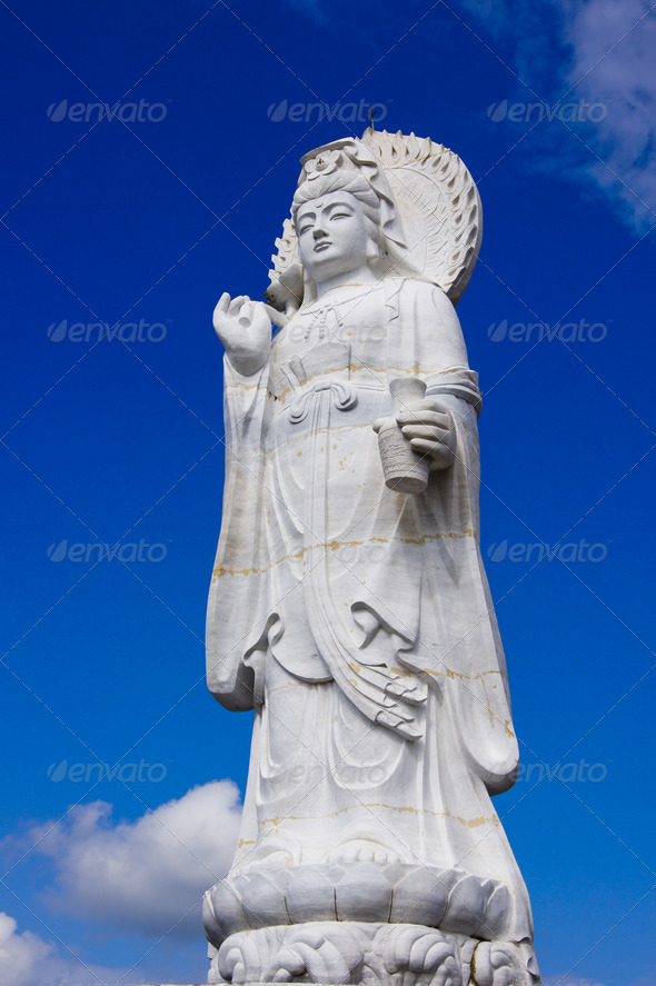 Guan Yin Chinese God - Stock Photo - Images