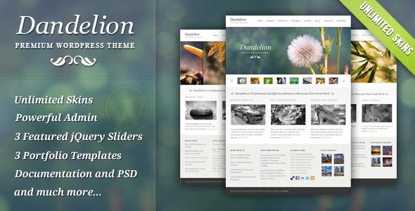 Theme para WordPress de Portafolio: Dandelion