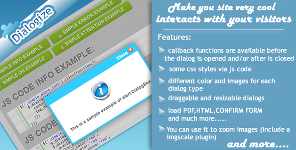 JQuery Dialogize - CodeCanyon Item for Sale