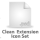 Clean Extension Icon Set - GraphicRiver Item for Sale