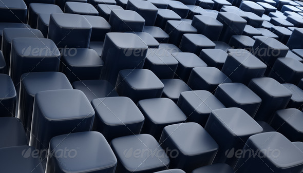 3d blocks abstract background blue - Stock Photo - Images