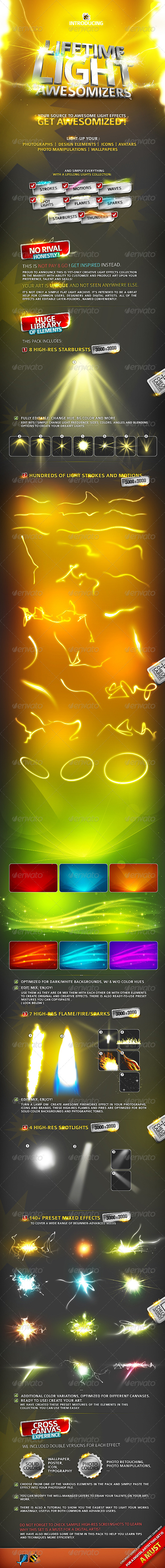 Lifetime Light Awesomizers ( Effects Collection ) - Decorative Graphics