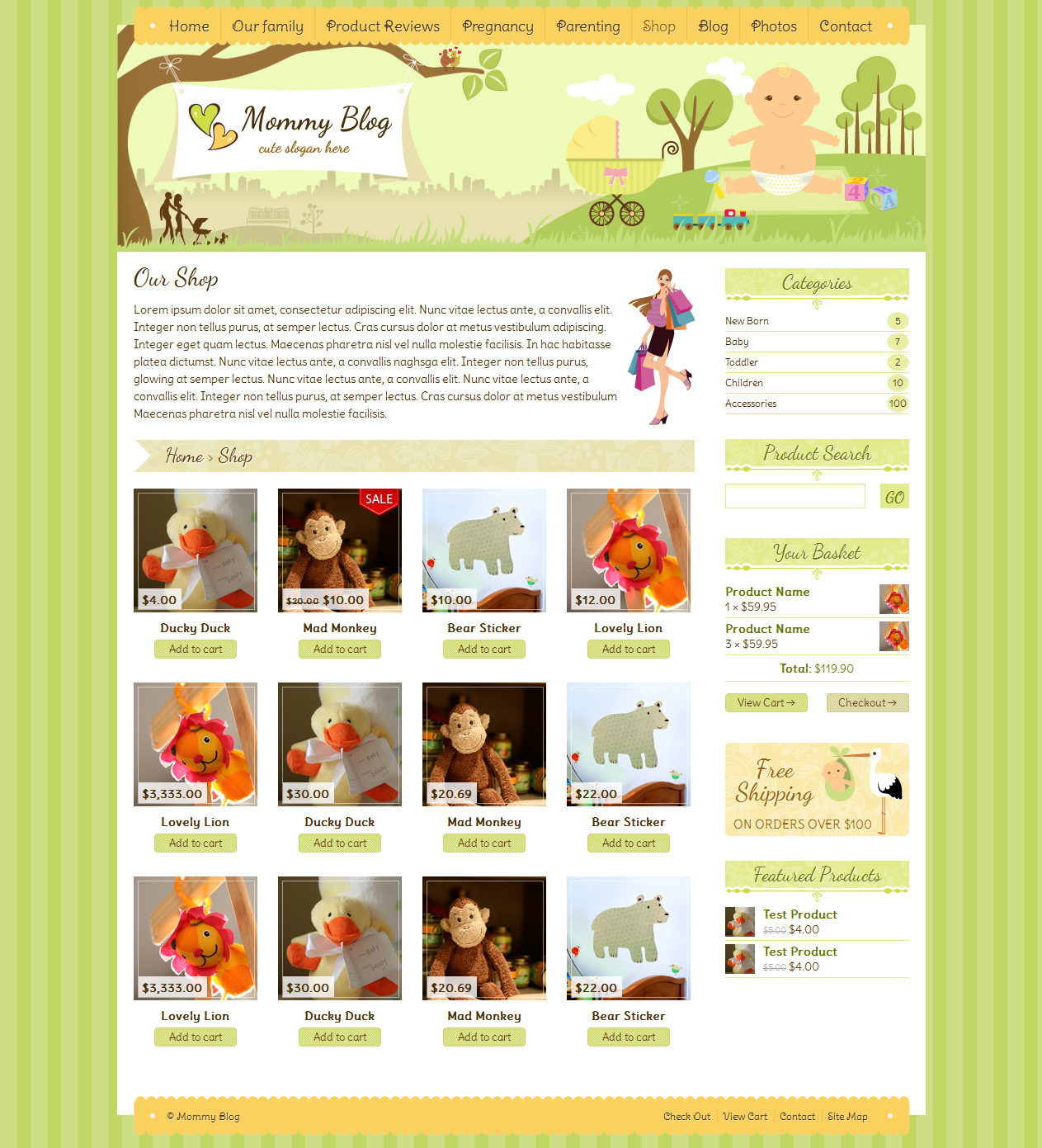 Mommy Blog - Premium WordPress Jigoshop Theme