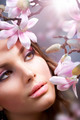 Beautiful Girl's Face With Flowers - PhotoDune Item for Sale