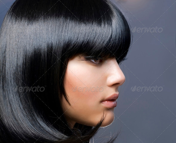 PhotoDune Hairstyle Beautiful Brunette Girl Healthy Hair 1158896