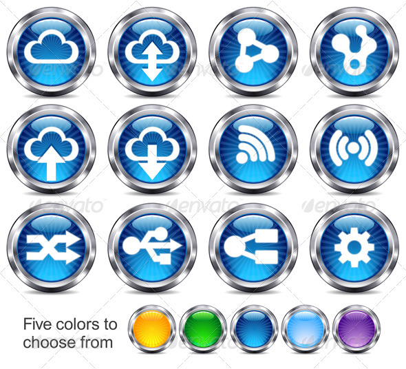Technology Button Icons - Technology Icons