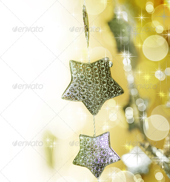 Christmas Decoration Border - Stock Photo - Images