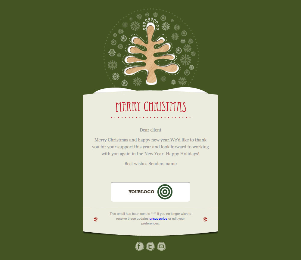 Simply Christmas 2 - Example green card template.