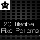 20 Tileable Pixel Patterns 1 - GraphicRiver Item for Sale