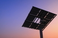 silhouette of solar panel with beautiful sunset - PhotoDune Item for Sale