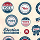 Vintage style election badges - GraphicRiver Item for Sale