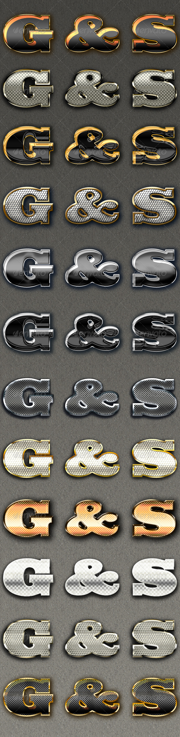Gold and Silver Text Effects v.2 - Text Effects Styles