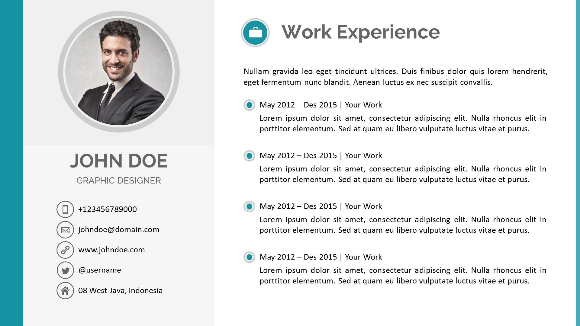 Presentation Resume Format  Resume Presentation