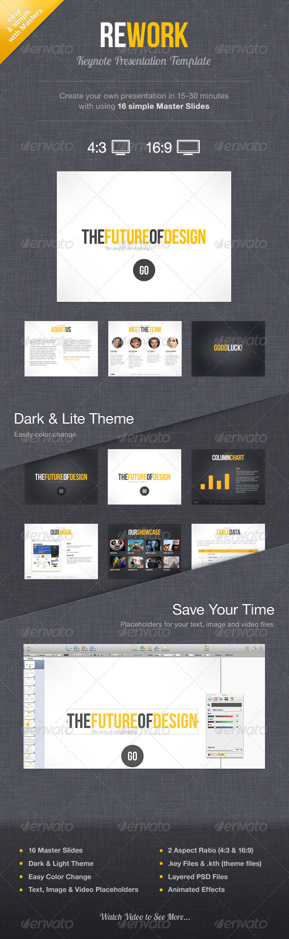 Rework Keynote Presentation Template - Keynote Templates Presentation Templates