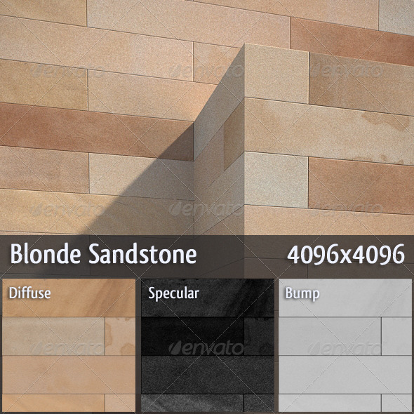 Blonde Sandstone - 3DOcean Item for Sale