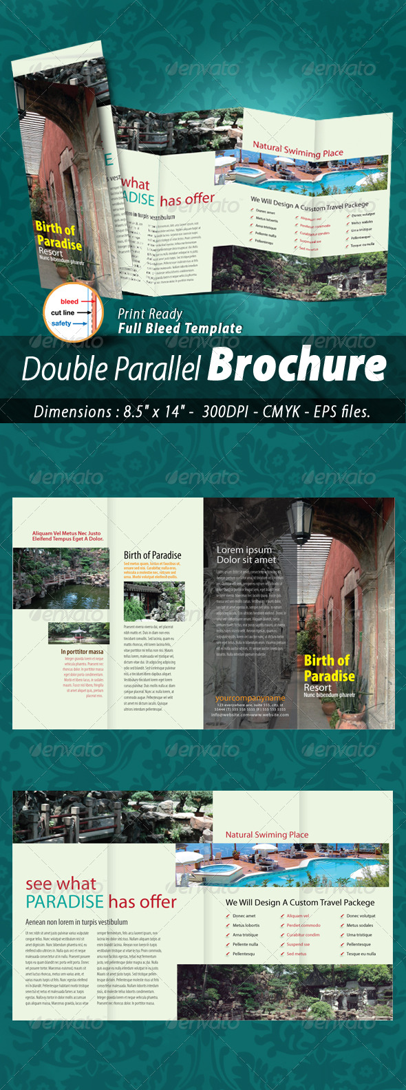 Hotel & Resort Double Parallel Brochure - Corporate Brochures