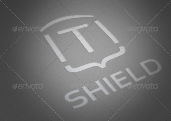 Typographic Shield - Symbols Logo Templates