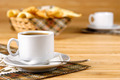 Coffee cup on the wooden table - PhotoDune Item for Sale