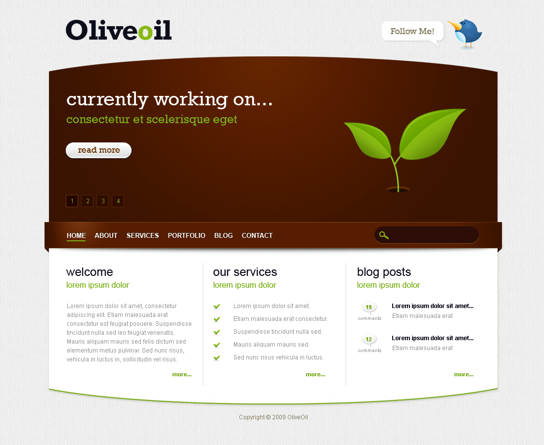 Oliveoil - Simple Portfolio Template