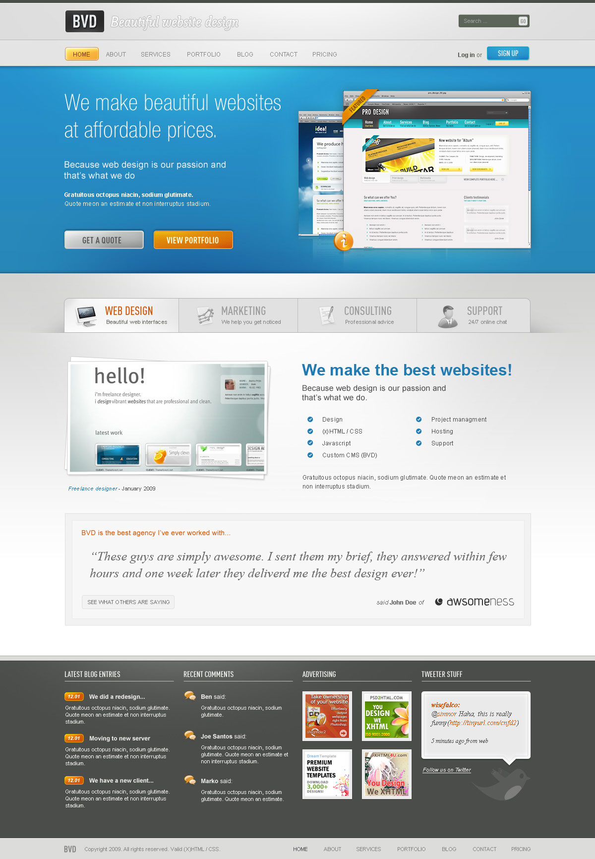 BVD - Beautiful Website Design - HTML