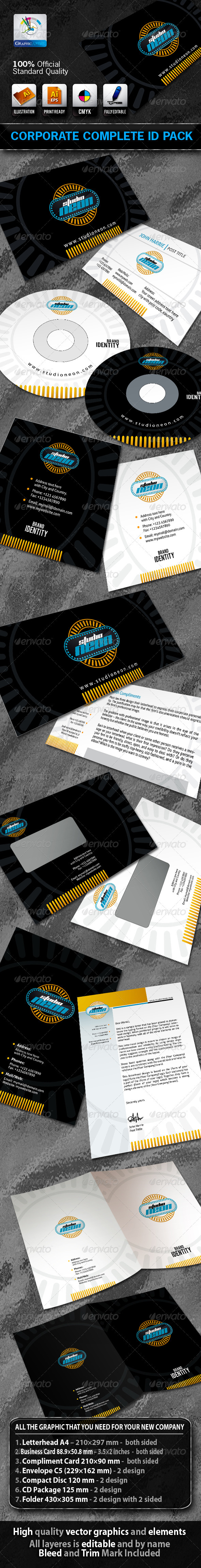 StudioNeon Business Corporate ID Pack + Logo - Stationery Print Templates