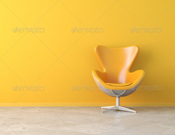 yellow interior copy space - Stock Photo - Images