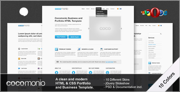 ThemeForest Cocomonio 10 in 1 Business and Portfolio HTML 140872