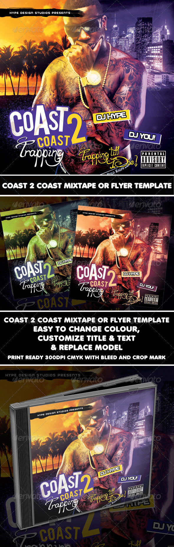 GraphicRiver Coast 2 Coast Mixtape or Flyer Template 1175864