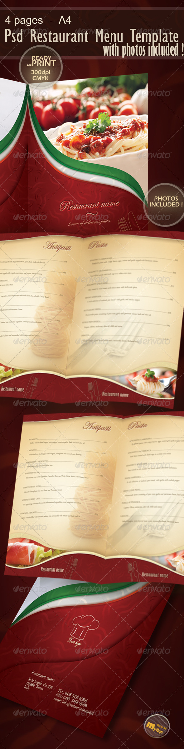 restaurant menu indesign template. Black Bedroom Furniture Sets. Home Design Ideas