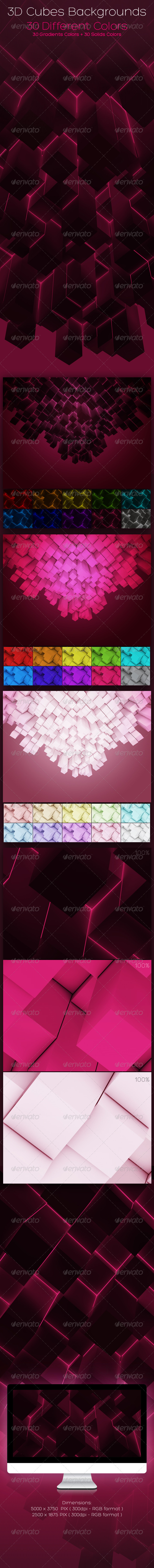 GraphicRiver 3D Cubes Backgrounds 1176352