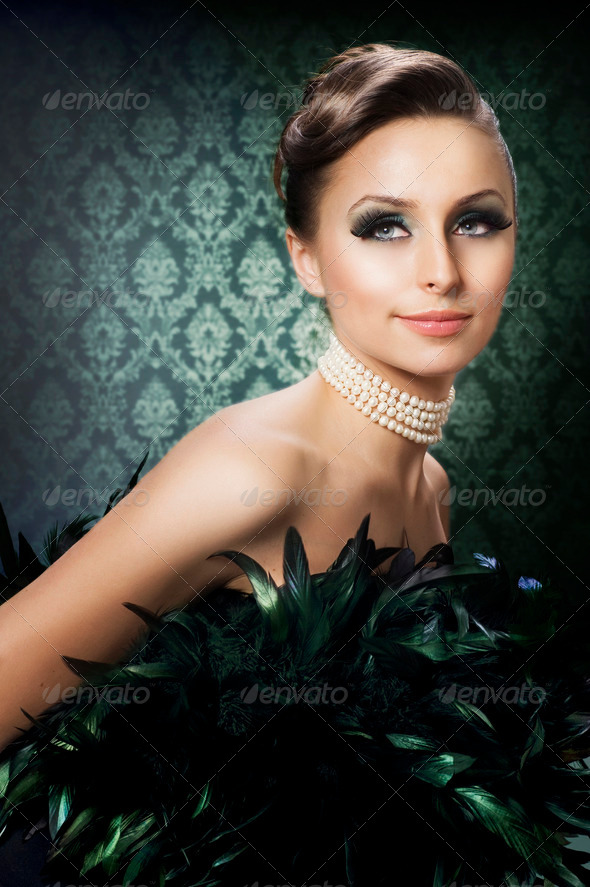 Beautiful Luxury Girl. Romantic Beauty Portrait - Stock Photo - Images