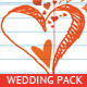 Wedding Invitation Package - Hearts Notebook - GraphicRiver Item for Sale