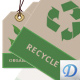 Green Eco Friendly Tags - GraphicRiver Item for Sale