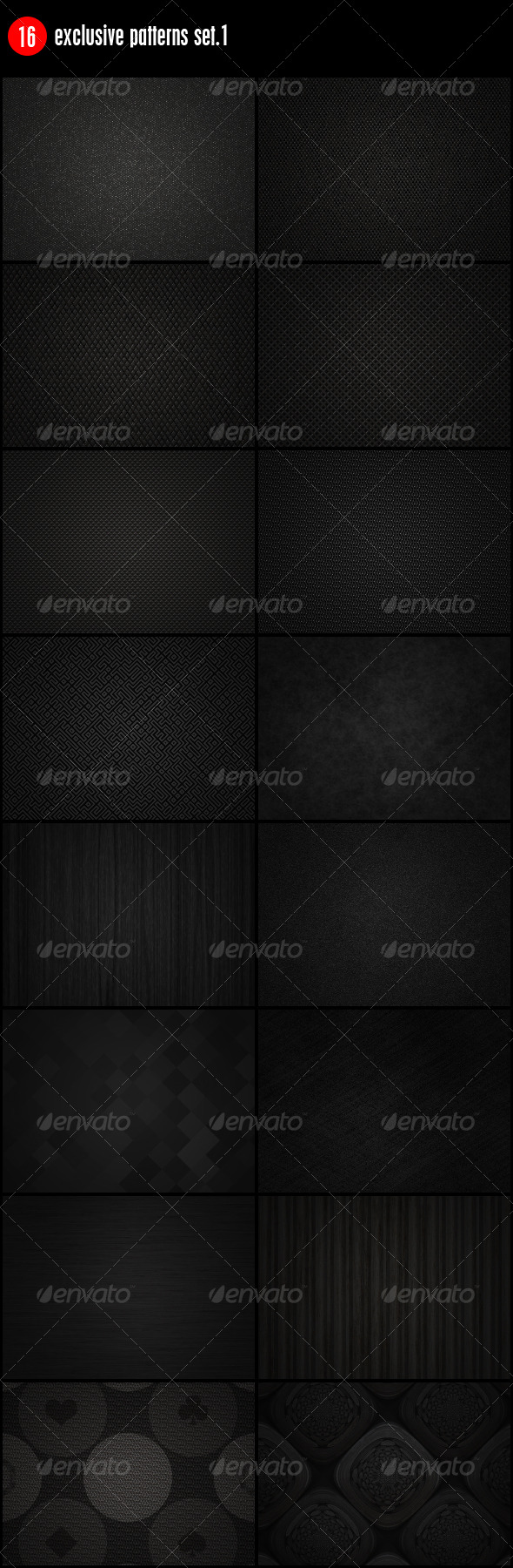 GraphicRiver 16 Exclusive Patterns Set.1 144437