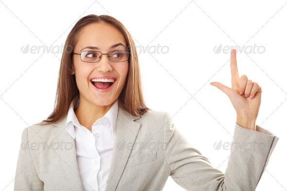 Woman gesturing - Stock Photo - Images