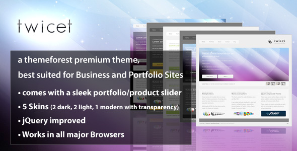Twicet Business &amp; Portfolio Template - 5 in 1