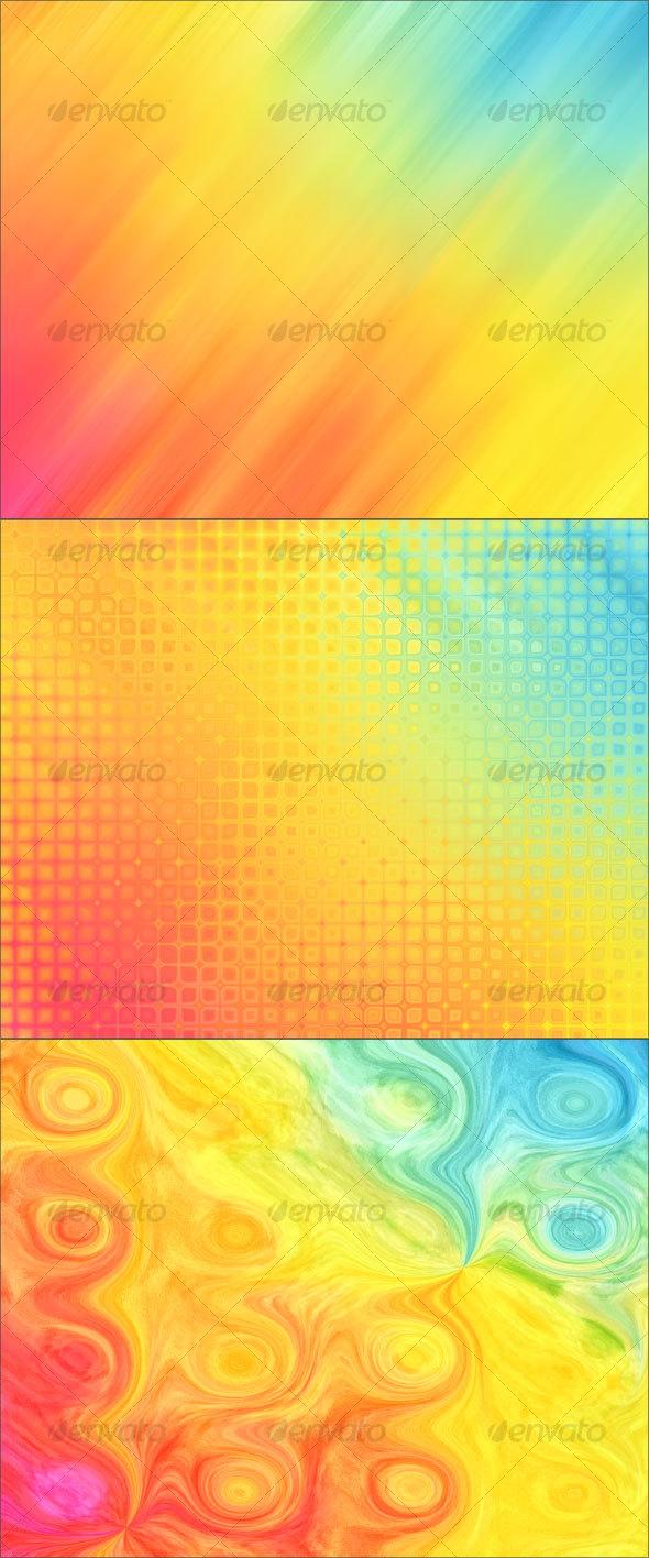 GraphicRiver Rainbow Rain Backgrounds 33051