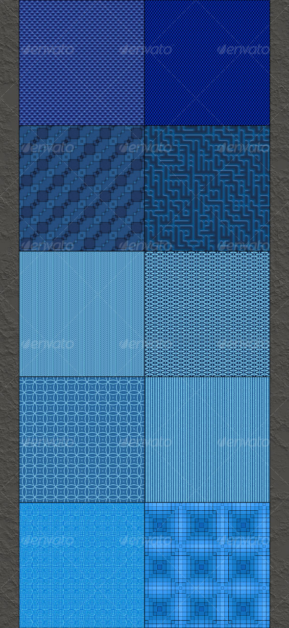 Blue Small Patterns - Textures / Fills / Patterns Photoshop