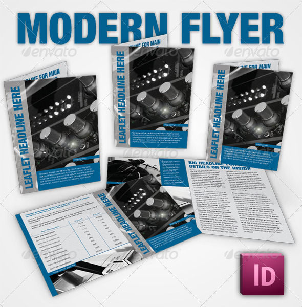 GraphicRiver Simple Corporate Leaflet InDesign 144825