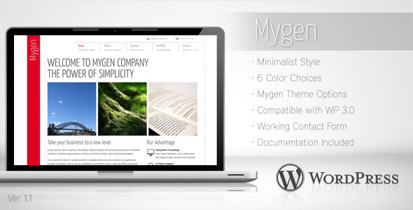Mygen - Minimalist Business Wordpress Theme 2 - Corporate WordPress