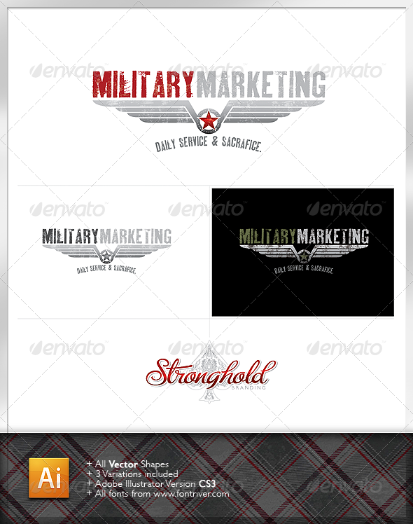 GraphicRiver Military Crest 2 Logo 1187910