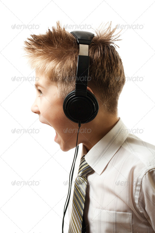 Screaming Boy - Stock Photo - Images