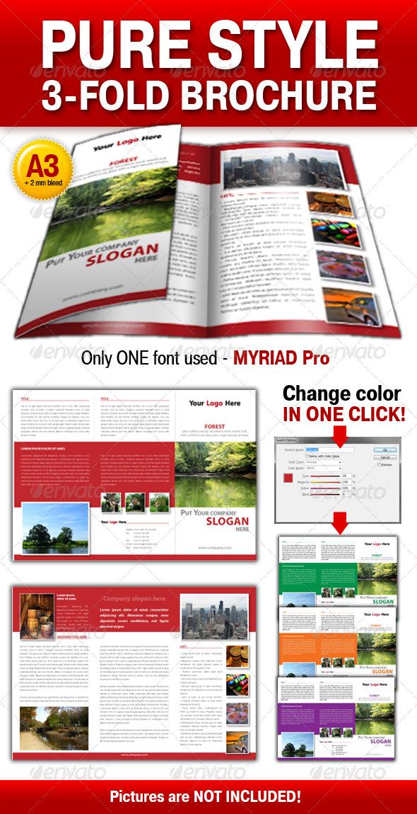GraphicRiver Pure Style 3-fold brochure 131722