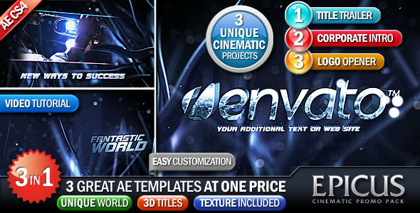 After Effects Project - VideoHive EPICUS 3in1 Cinematic Promo Pack 145641
