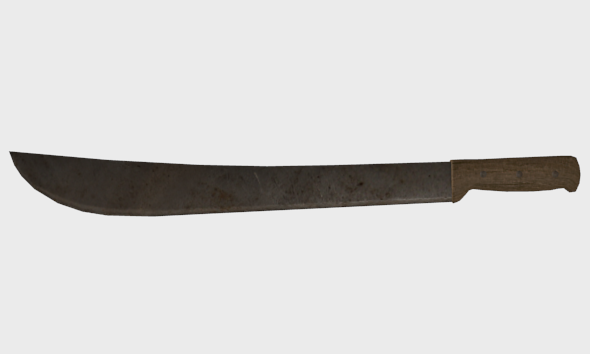 Low Poly Machete - 3DOcean Item for Sale
