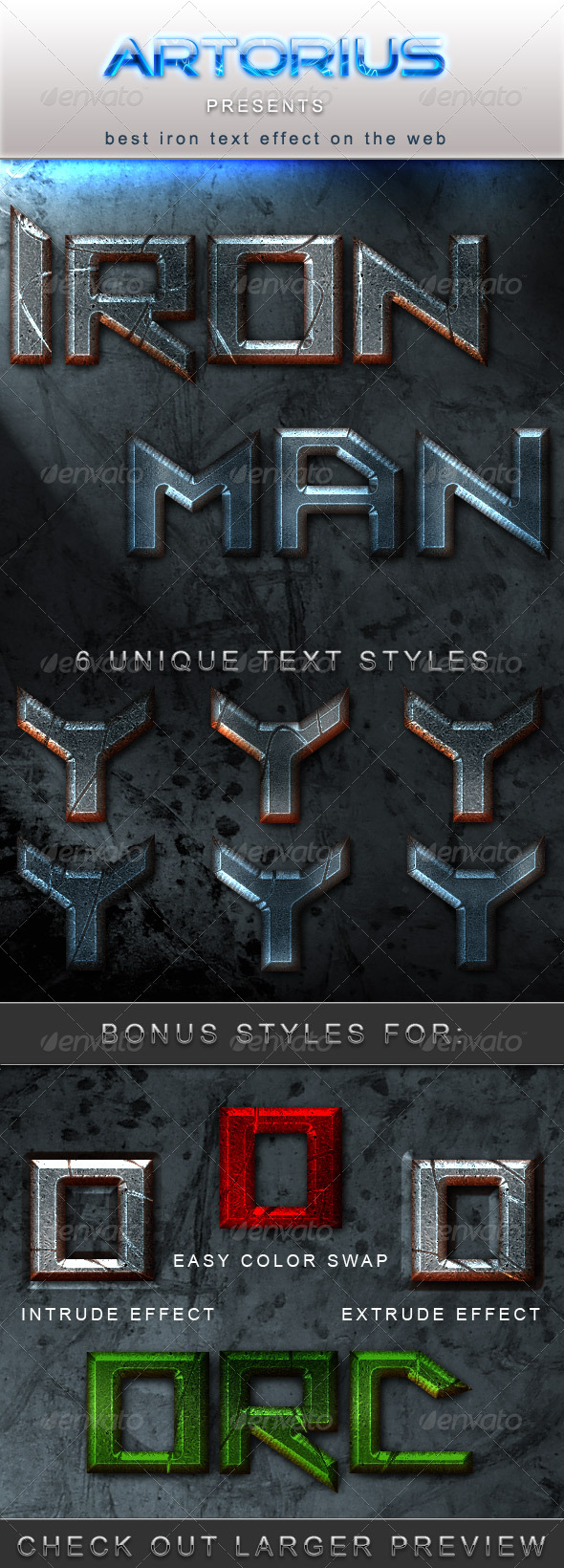 GraphicRiver Iron Man Text Styles 145776